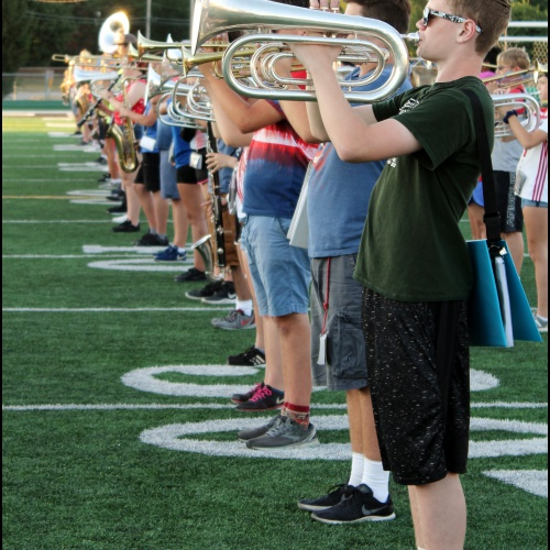 Summer band camp practice, 08.08.2019