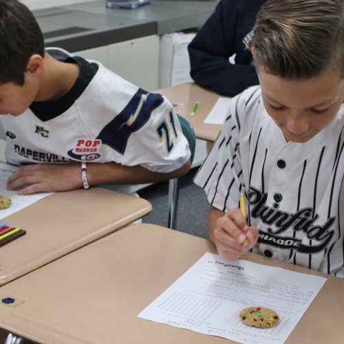 Sixth grade cookie excavation lab, 09.27.2019