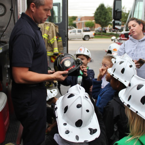 Second graders visit Joliet Fire Station, 09.27.2019