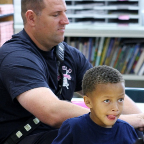 Plainfield firefighters talk fire safety with kindergartners, 10.03.2019