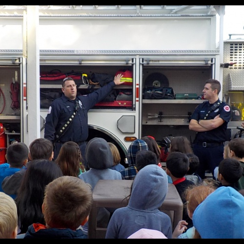 Plainfield firefighters visit first graders, 10.09.2019
