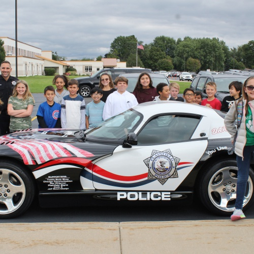Fifth grader wins ride home in Plainfield Police Viper, 10.04.2019