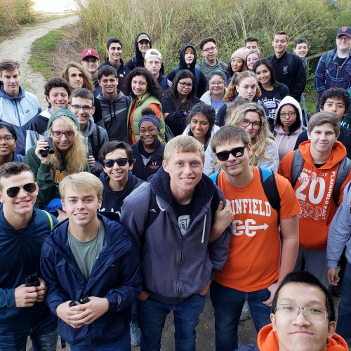 PHSCC, PEHS AP environmental science classes study Midewin Prairie, 09.10.2019