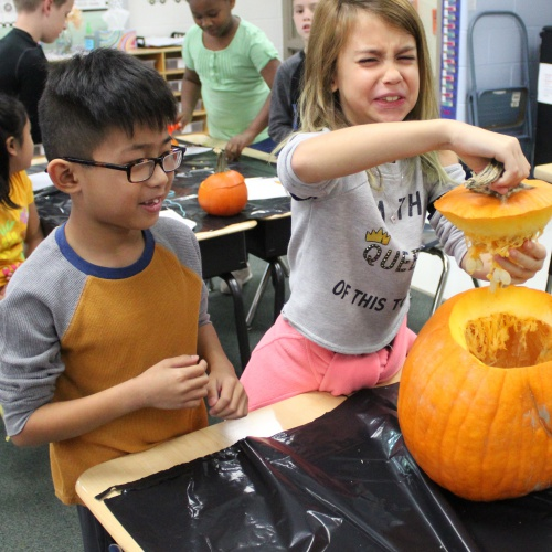 Third grade pumpkin math, 10.21.2019