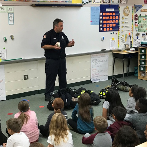 Firefighter Visit- Mr. Sniegowski