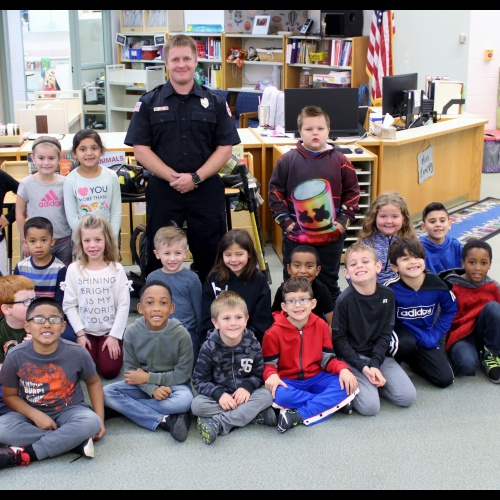 Firefighter visit first grade, 10.28.2019