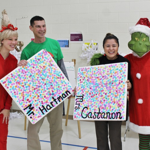 Grinch week kindness assembly, 12.20.2019