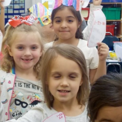 First graders celebrate 100 days of school, 02.2020