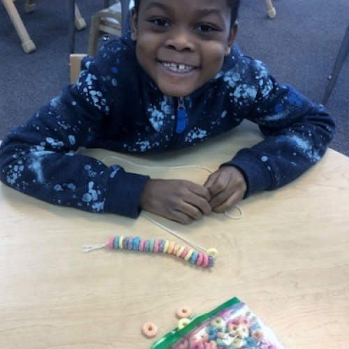 Functionally Based Instruction students celebrate the 100th day of school. 02.2020