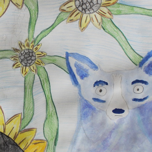 Student art on display in The Jon W. Balke Art Gallery at the Administration Center
