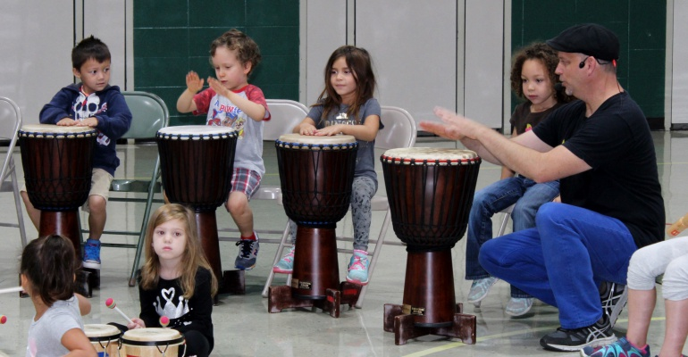 Drum assembly, Grand Prairie Elementary School