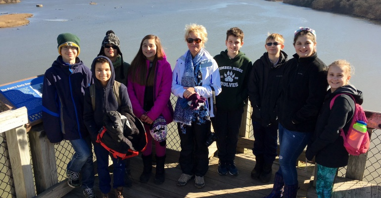 Timber Ridge Middle School's Environmental Club visits Starved Rock State Park