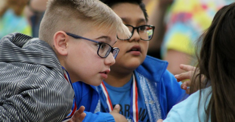 Students battle teachers in the Battle of the Books at Creekside Elementary School