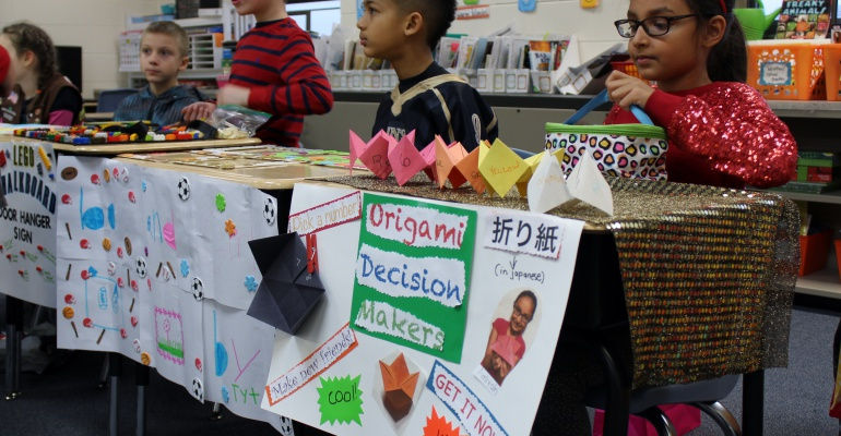 Eagle Pointe Elementary School third graders barter with homemade goods