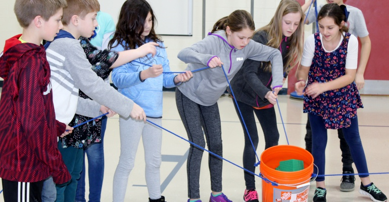 River View Elementary School students training for Expedition Mars event in April