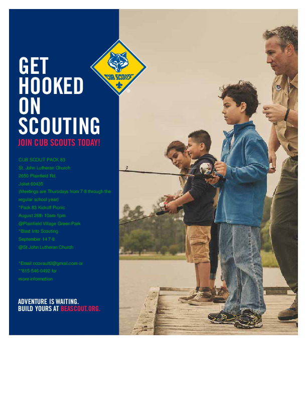 Cub Scout Pack 83 Registration and Information