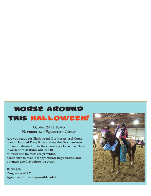 Haunted Pony Rides at the Plainfield Park District!