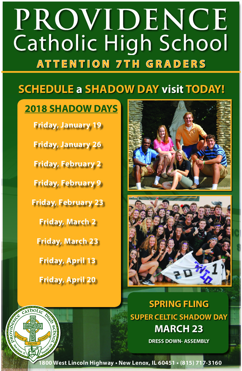 Providence Catholic 7th Grade Shadow Days