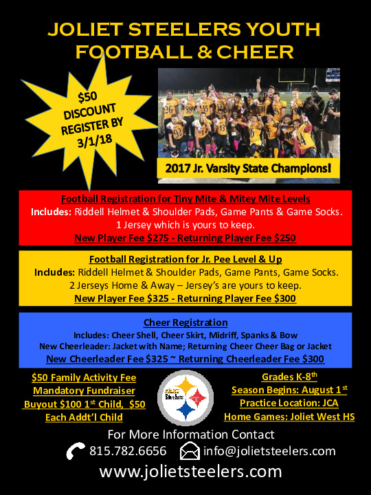 Joliet Steelers Youth Football & Cheer