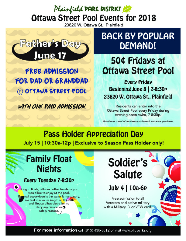 Ottawa Street Pool Special Events