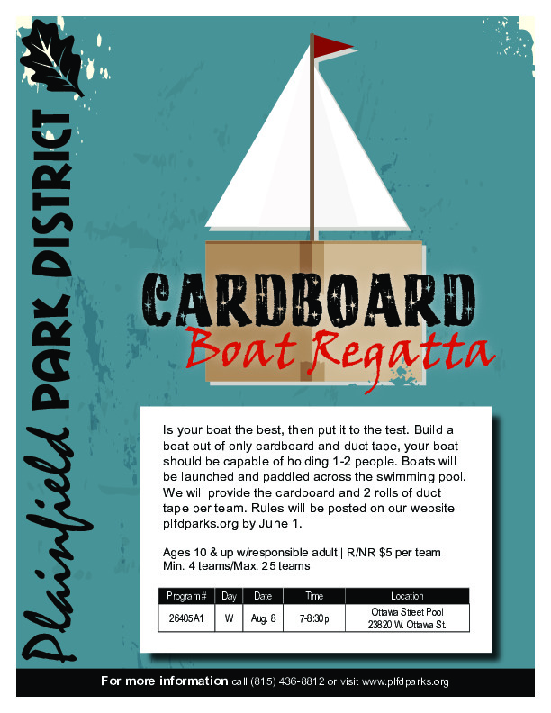 Cardboard Boat Regatta: Plainfield Park District