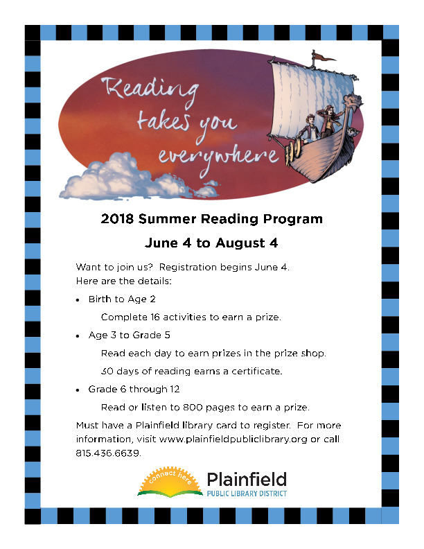 Summer Reading Program at the Plainfield Public Library District