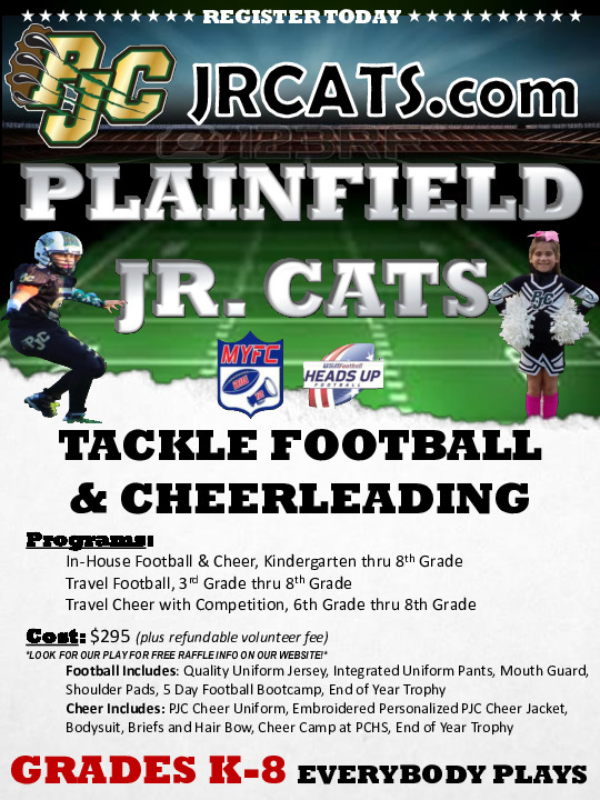 Plainfield Junior Cats Football and Cheer
