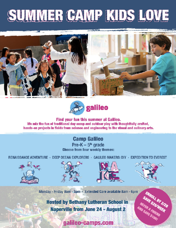 Galileo Summer Camps - Naperville
