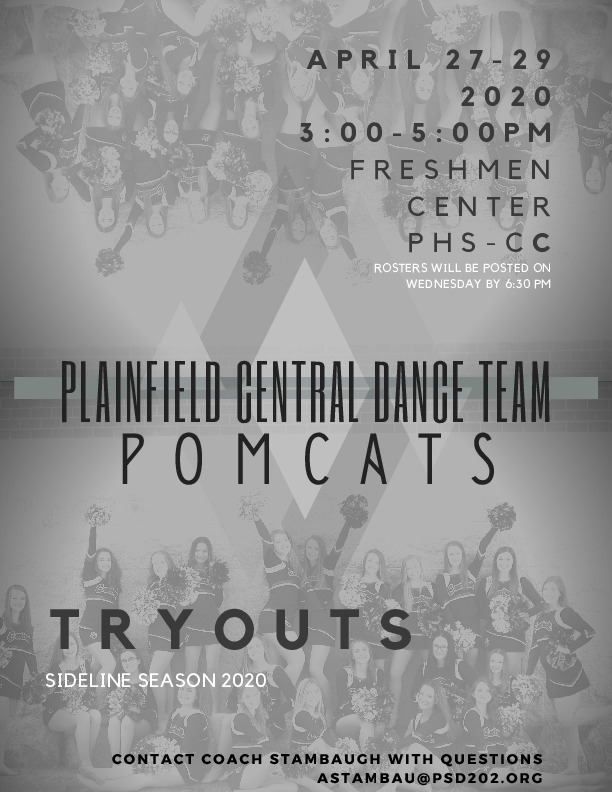 Plainfield Central Dance Team Tryouts