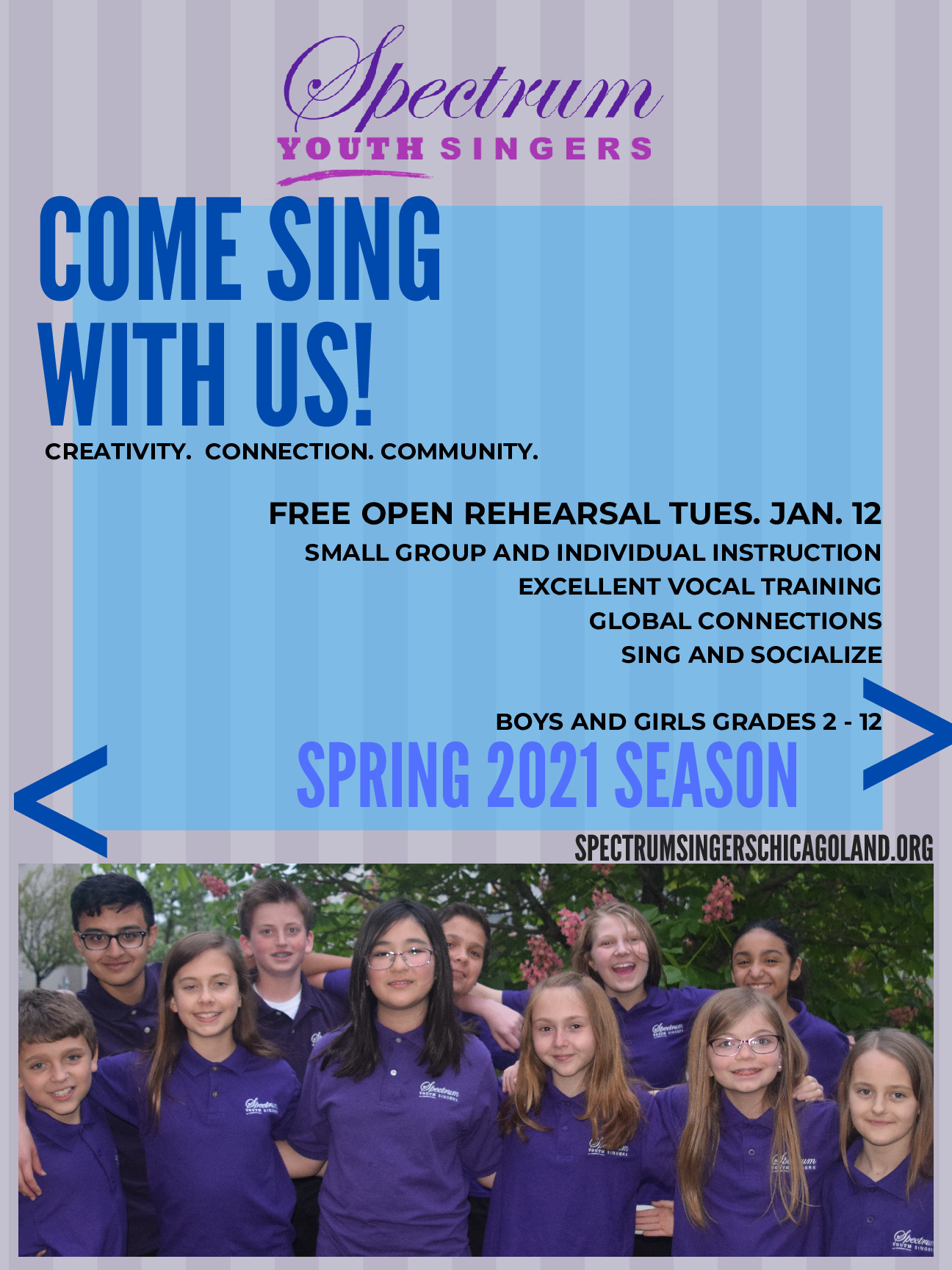 Join Spectrum Youth Singers, Plainfield