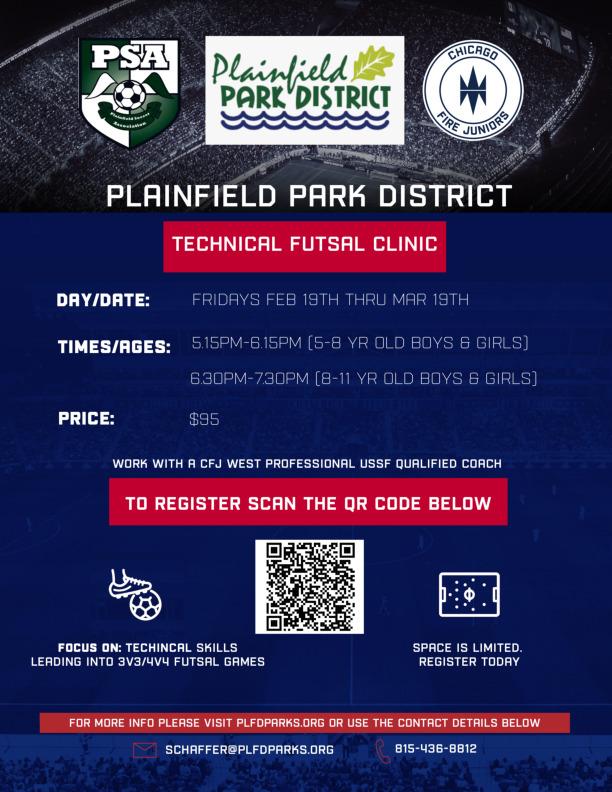 Plainfield Park District Indoor Soccer