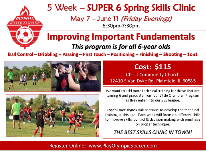 Super 6 Soccer Skills Clinic