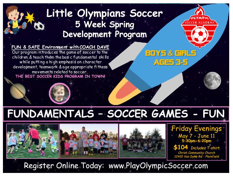 Little Olympians Soccer Program Spring