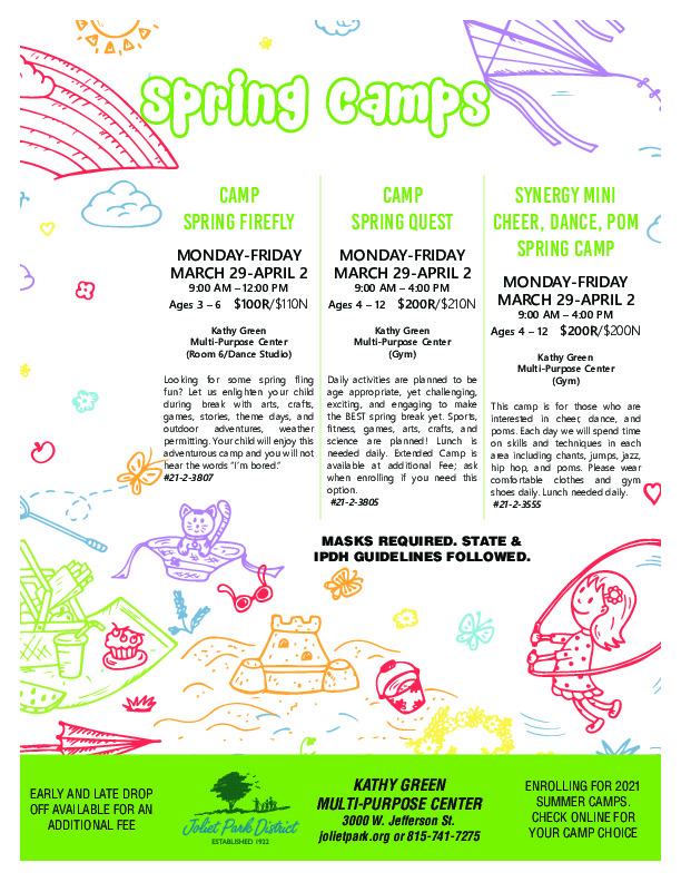 Spring Camps at the Kathy Green Multi-Purpose Center
