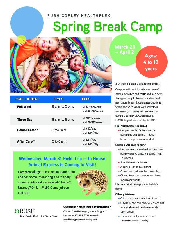 Rush Copley Healthplex Spring Break Camp