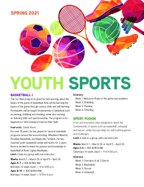 Rush Copley Healthplex Youth Sports Programs - Spring 2021