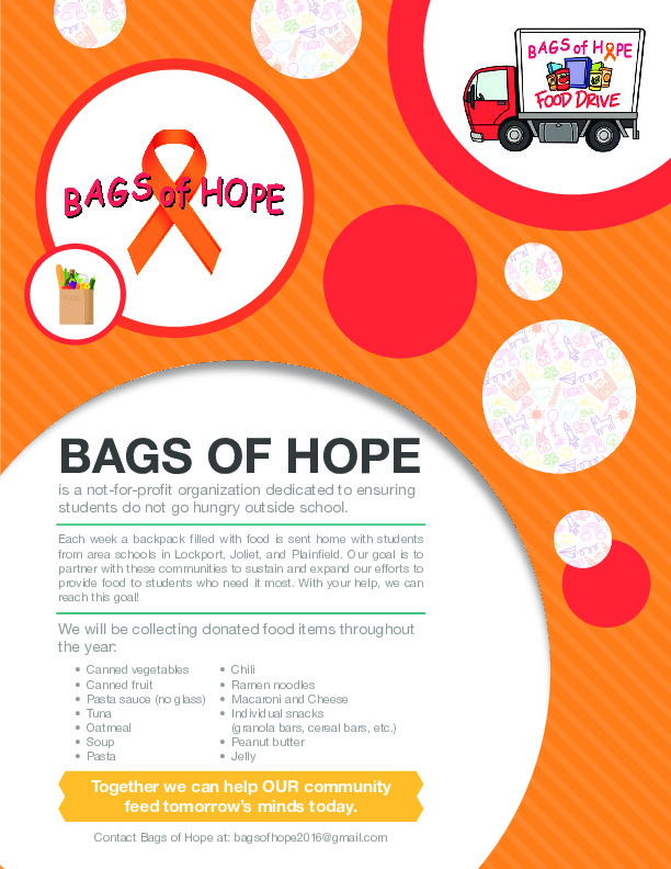 Bags of Hope food drive at Liberty Elementary