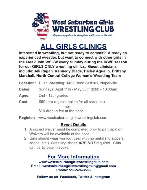 Girls-Only Sunday Wrestling Clinics