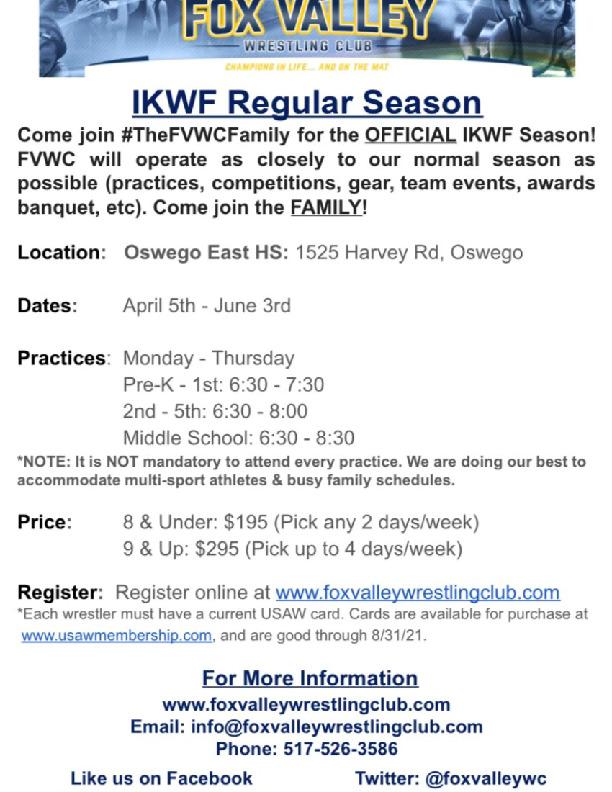 Fox Valley Wrestling Spring Season