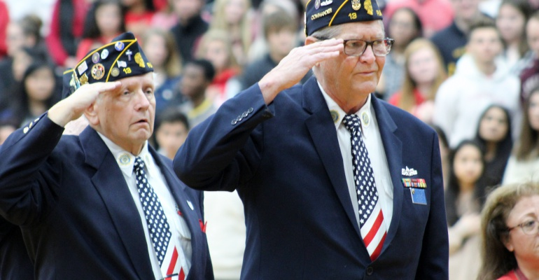 Plainfield North High School honors veterans