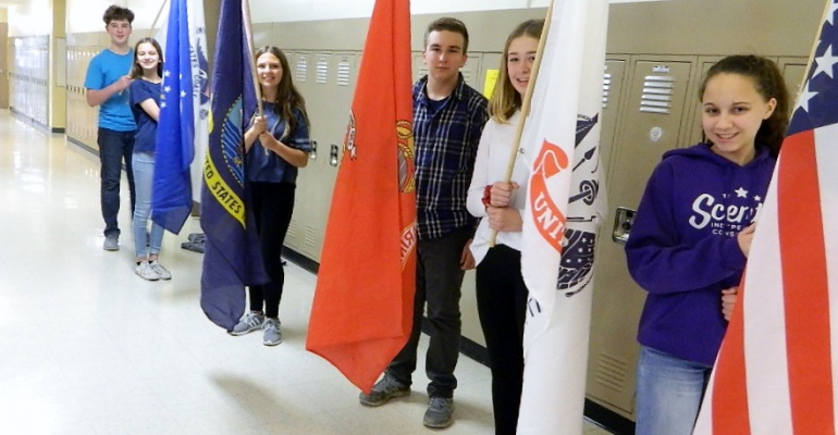 Indian Trail Middle School honors veterans