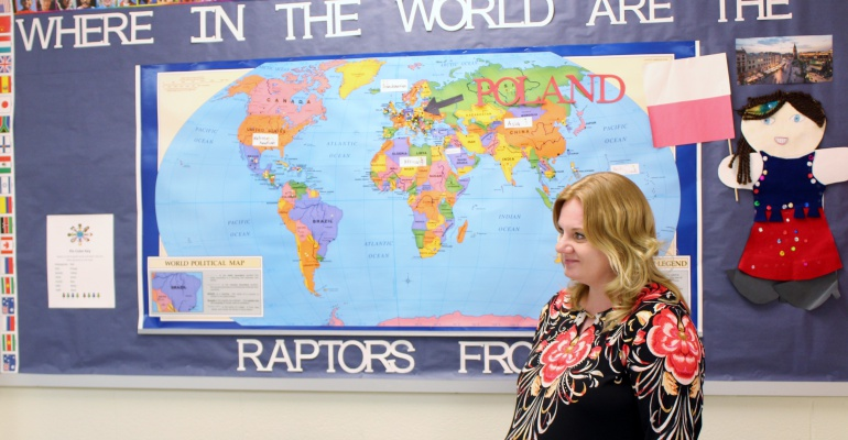 Ridge Elementary School students learn about Poland