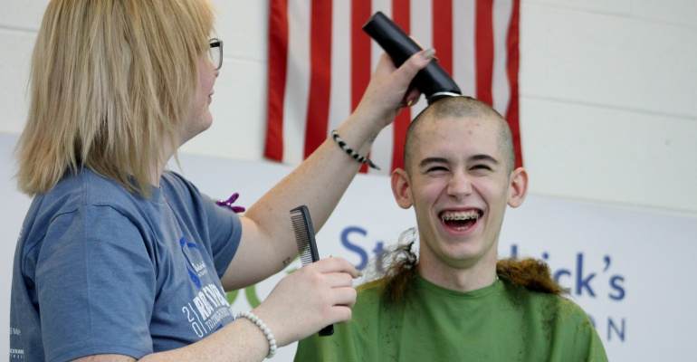 PHS-CC students, staff shave heads, raise money for St. Baldrick's Foundation