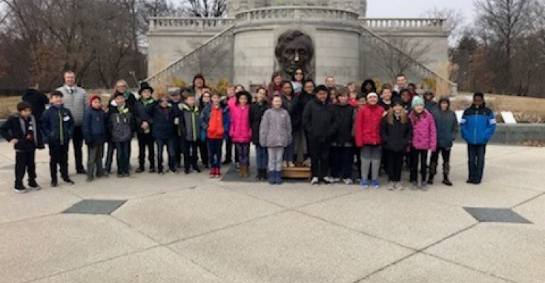 Crystal Lawns Elementary School fifth graders visit Springfield