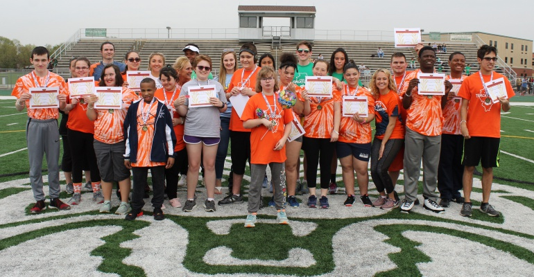 Special Olympians compete at Stephen P. Hunt Invitational