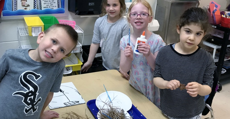 Liberty Elementary School kindergartners create bird nests for National Science Week