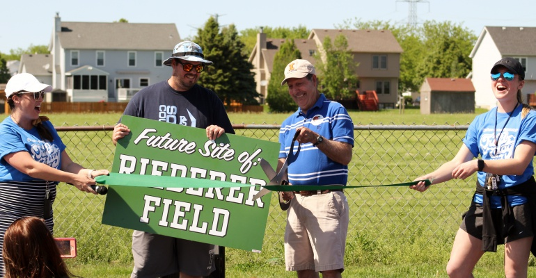 Walker's Grove Elementary School dedicates Steve Reiderer Field, 05.23.2019