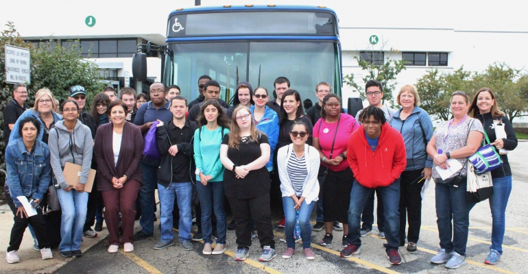 Plainfield Academy, JJC student learn about riding public transportation, 10.2019