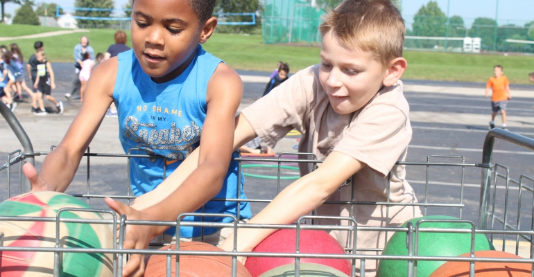 Students enjoy recess at Wesmere Elementary School