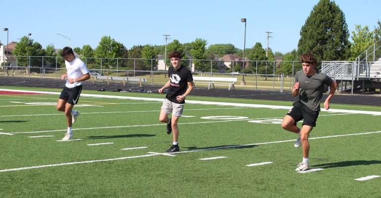Plainfield North High School football conditioning begins